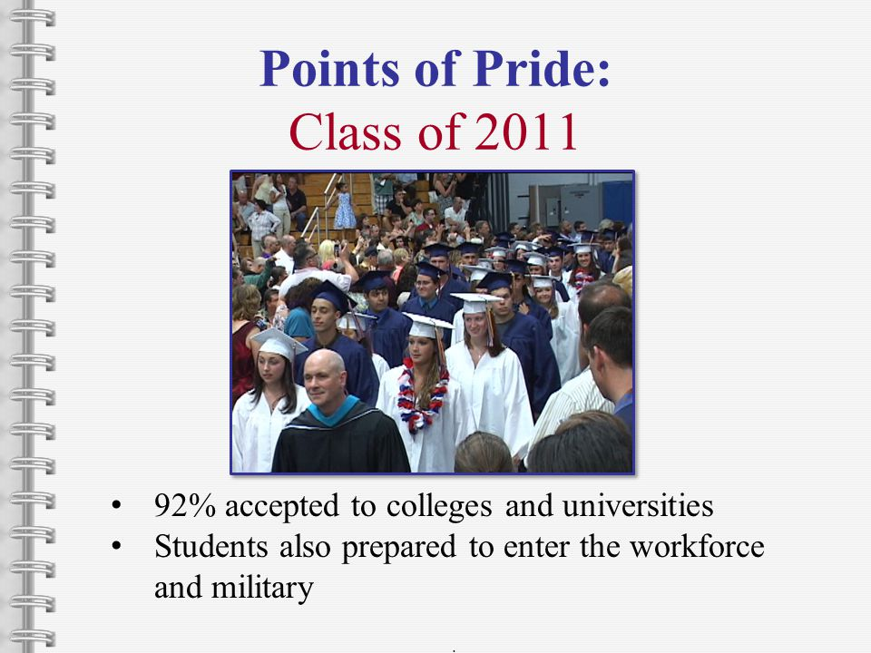 Points of Pride: Class of 2011.