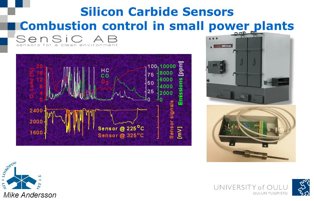 Silicon Carbide Sensors Combustion control in small power plants Mike Andersson
