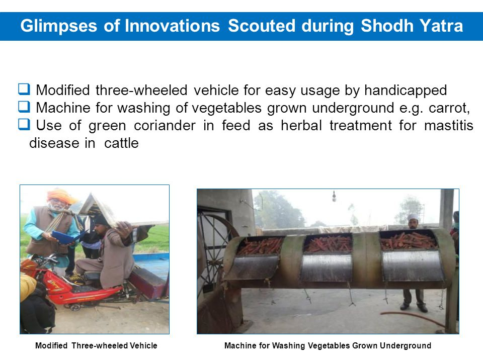 Modified three-wheeled vehicle for easy usage by handicapped Machine for washing of vegetables grown underground e.g.