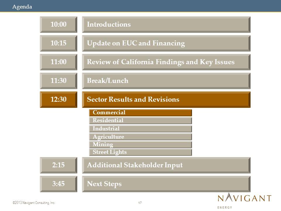 17 ©2013 Navigant Consulting, Inc.