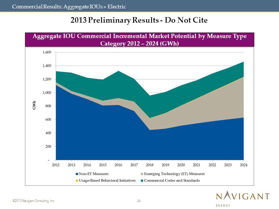 20 ©2013 Navigant Consulting, Inc.