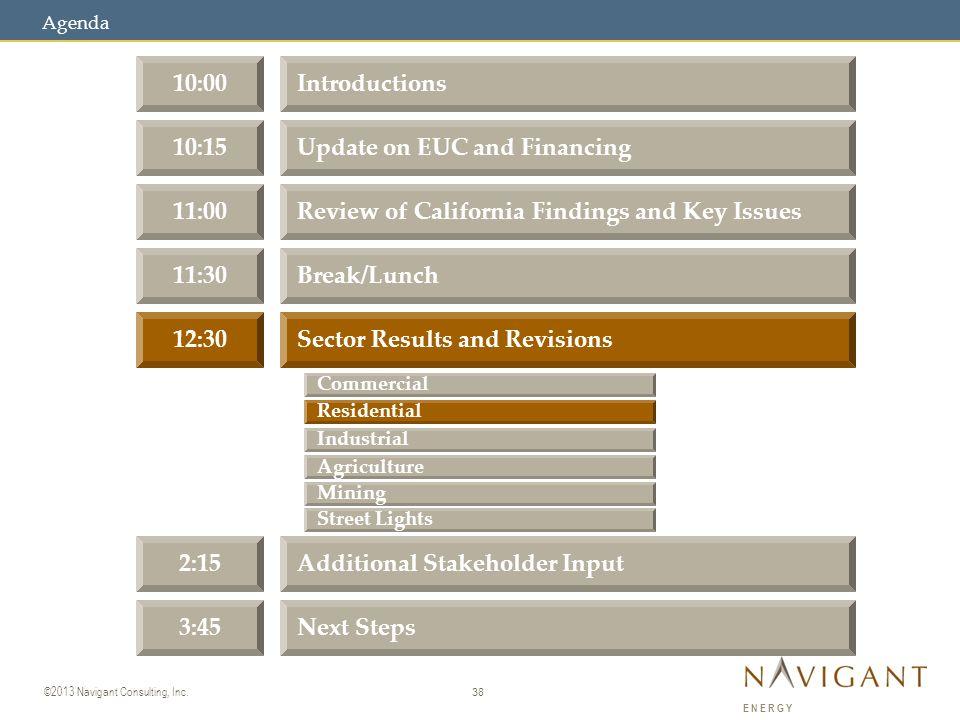 38 ©2013 Navigant Consulting, Inc.