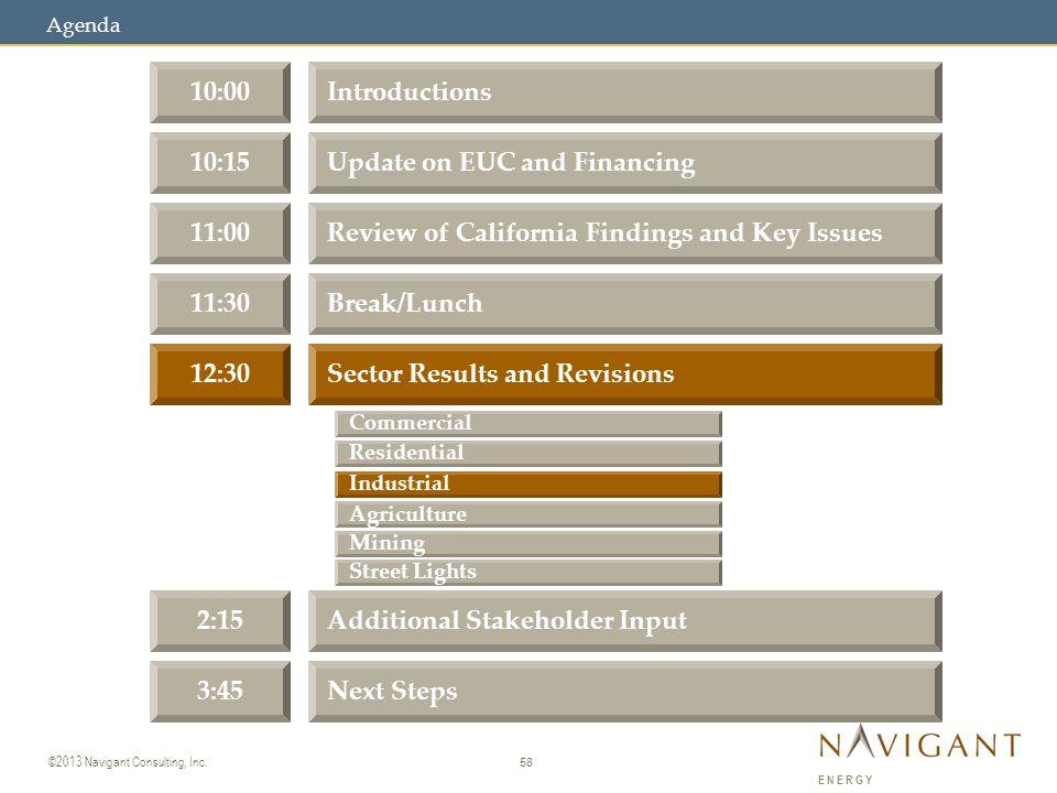 58 ©2013 Navigant Consulting, Inc.