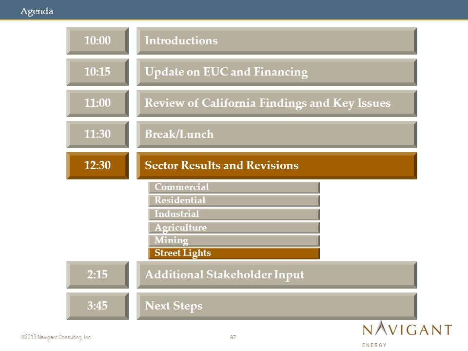 97 ©2013 Navigant Consulting, Inc.