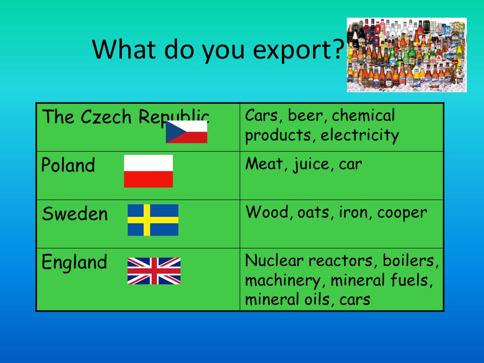What do you export.
