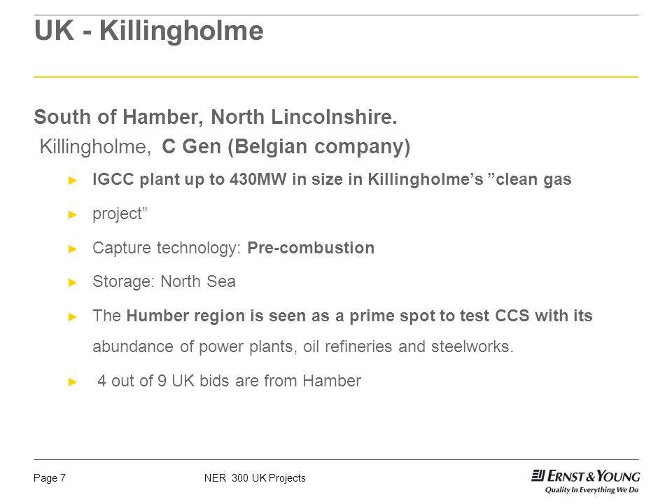 NER 300 UK ProjectsPage 7 UK - Killingholme South of Hamber, North Lincolnshire.