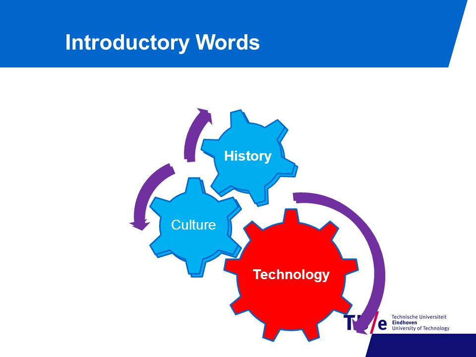 Reality Technology Culture History Technology Culture History Introductory Words