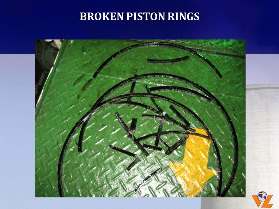 BROKEN PISTON RINGS