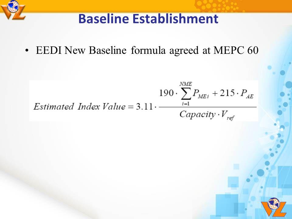 Baseline Establishment EEDI New Baseline formula agreed at MEPC 60
