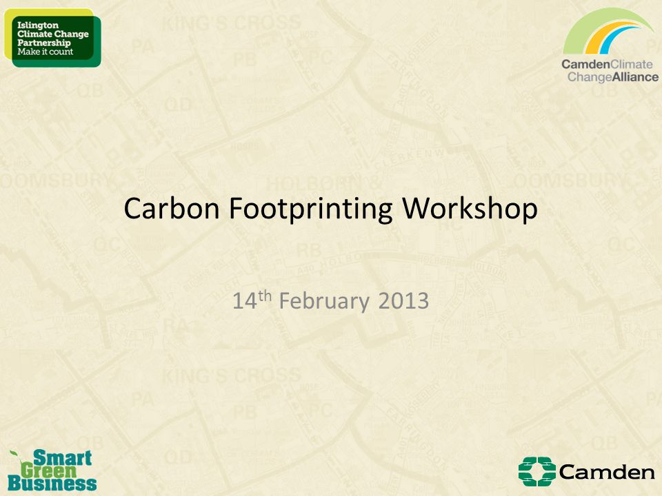 Exercise 1: identifying the boundary Working in groups Read the case study Establish the boundary of the carbon footprint Establish which emissions sources occur within this boundary Split the emissions sources into scopes Answers & Discussion 10 minutes
