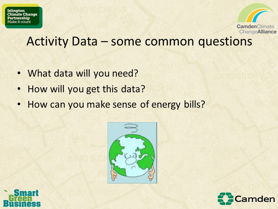 Activity data and conversion factors