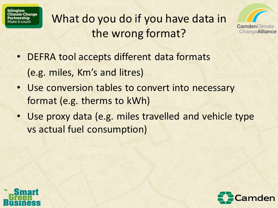 What do you do if you have missing data. Use best guess data – e.g.