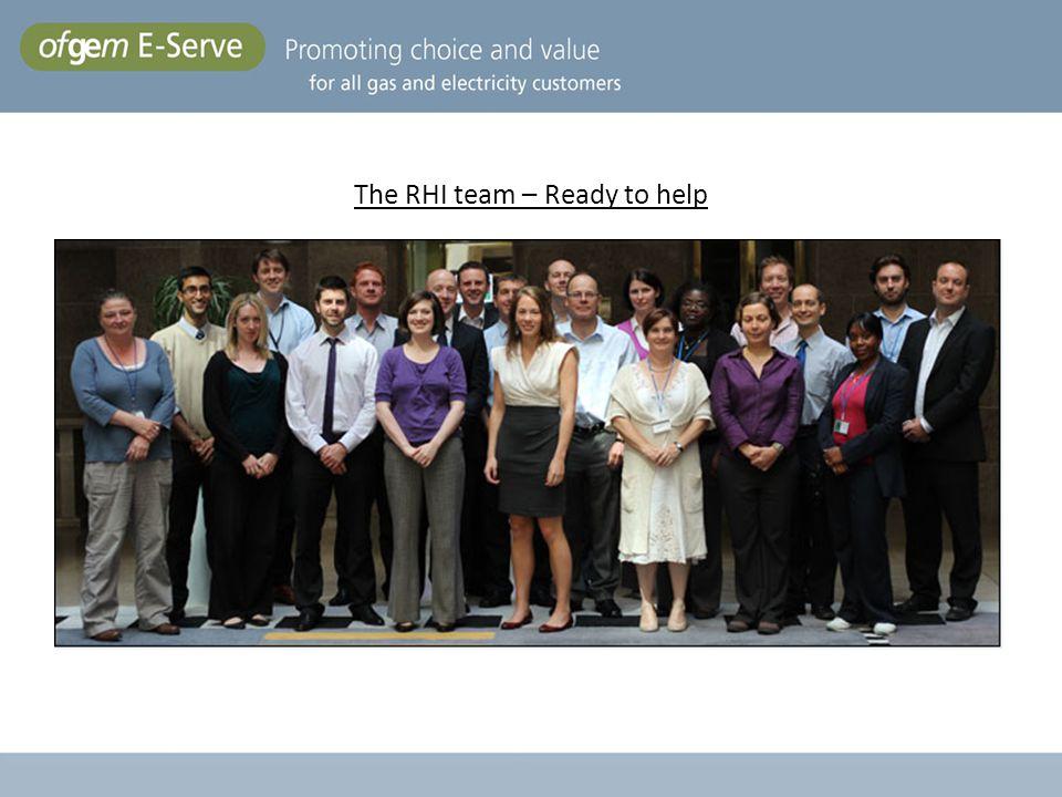 The RHI team – Ready to help