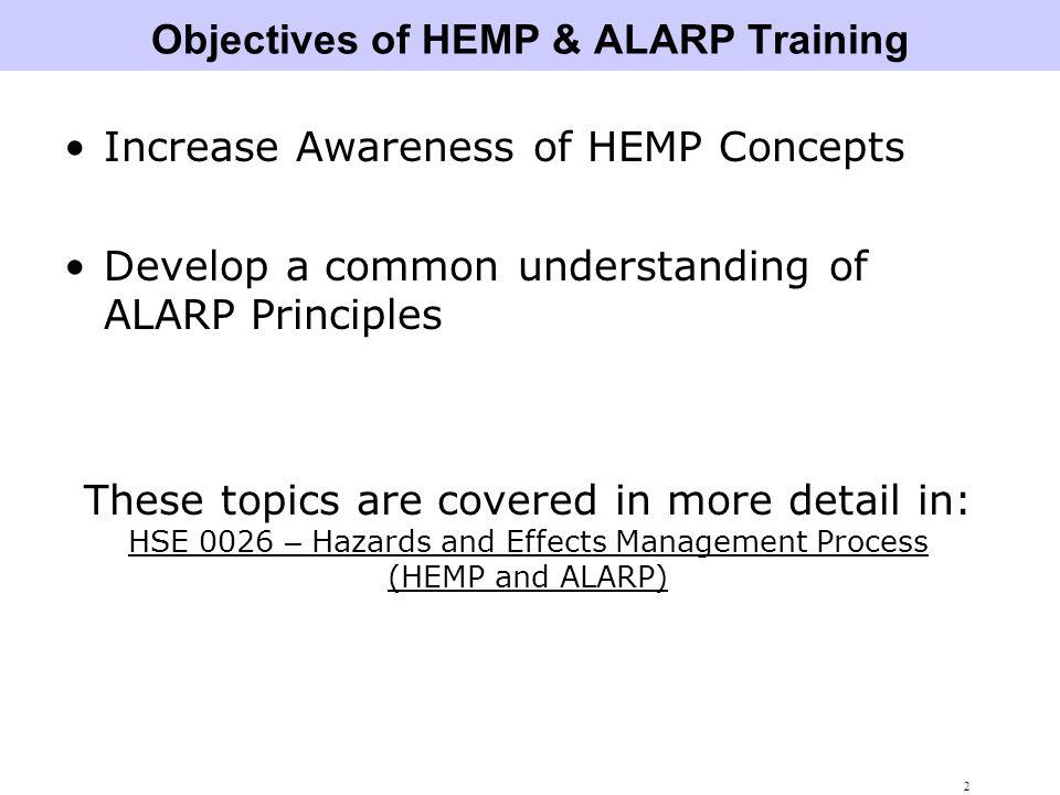 3 Hazards and Effects Management Process (HEMP)