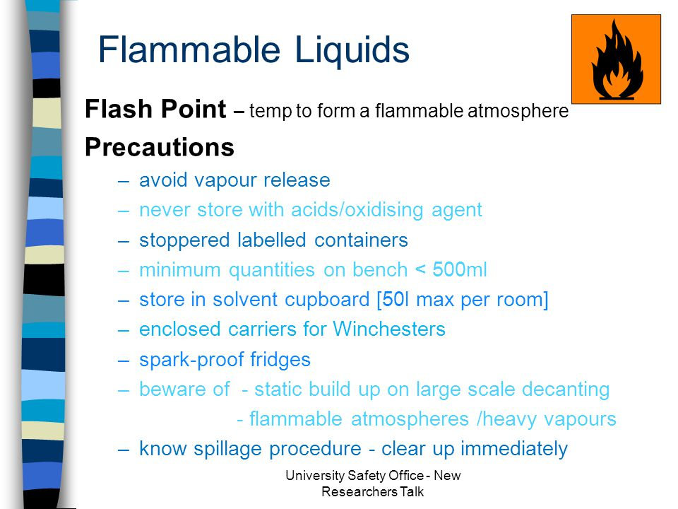 Flammable Liquids n Flashpoint - temp.