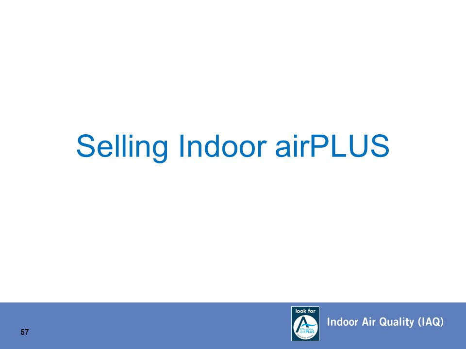 Selling Indoor airPLUS 57