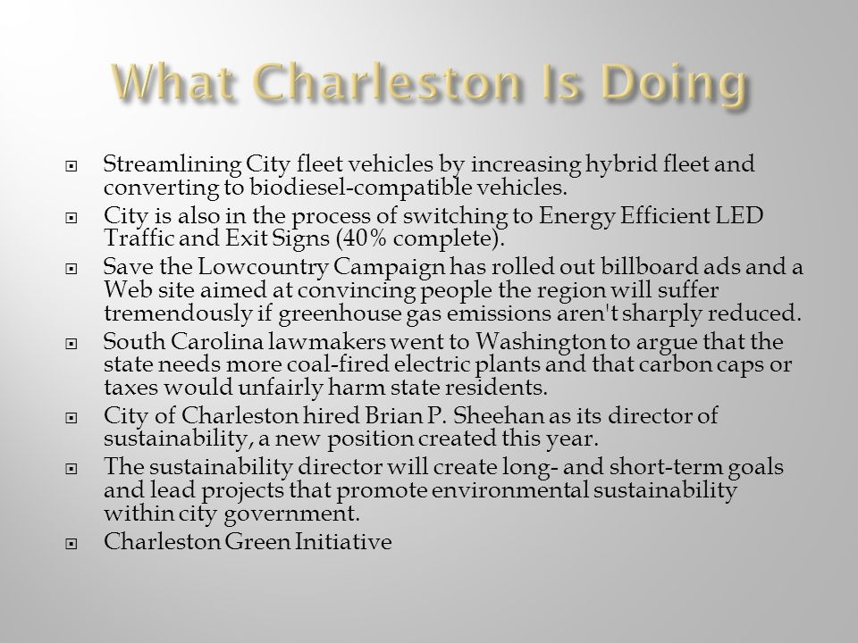 Streamlining City fleet vehicles by increasing hybrid fleet and converting to biodiesel-compatible vehicles.