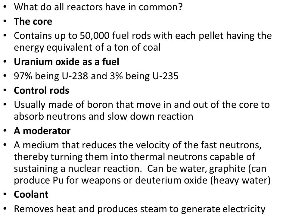 What do all reactors have in common.
