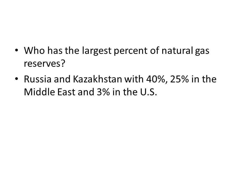 Who has the largest percent of natural gas reserves.