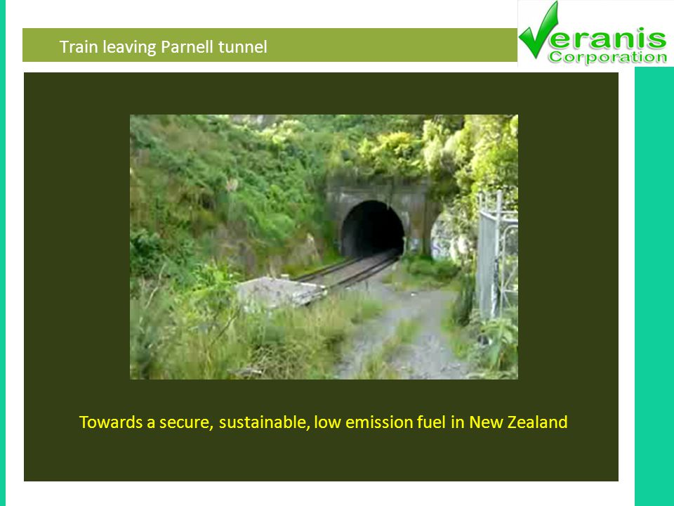 Train leaving Parnell tunnel Towards a secure, sustainable, low emission fuel in New Zealand