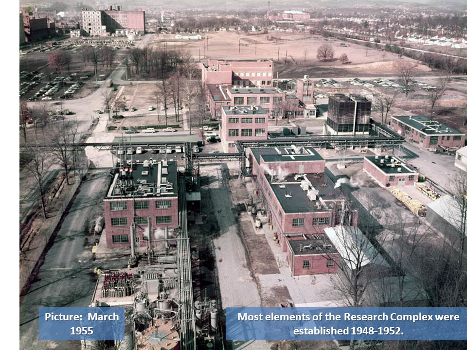 Most elements of the Research Complex were established 1948-1952. Picture: March 1955
