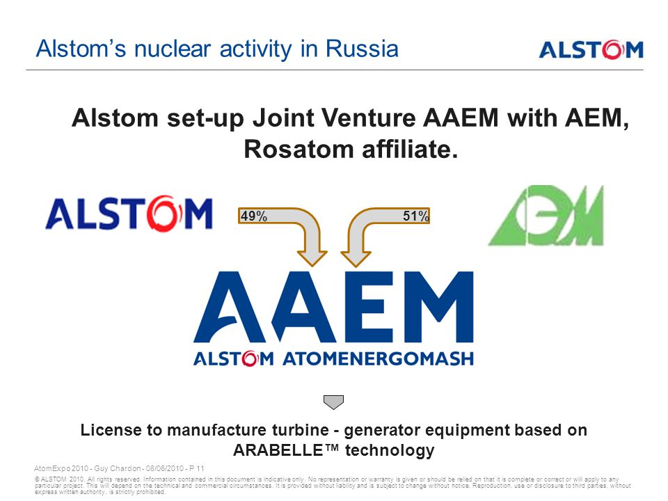© ALSTOM 2010.All rights reserved. Information contained in this document is indicative only.