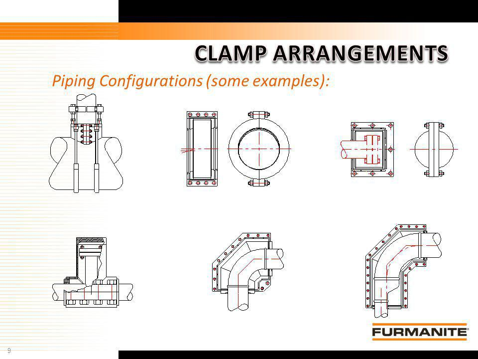 9 Piping Configurations (some examples):