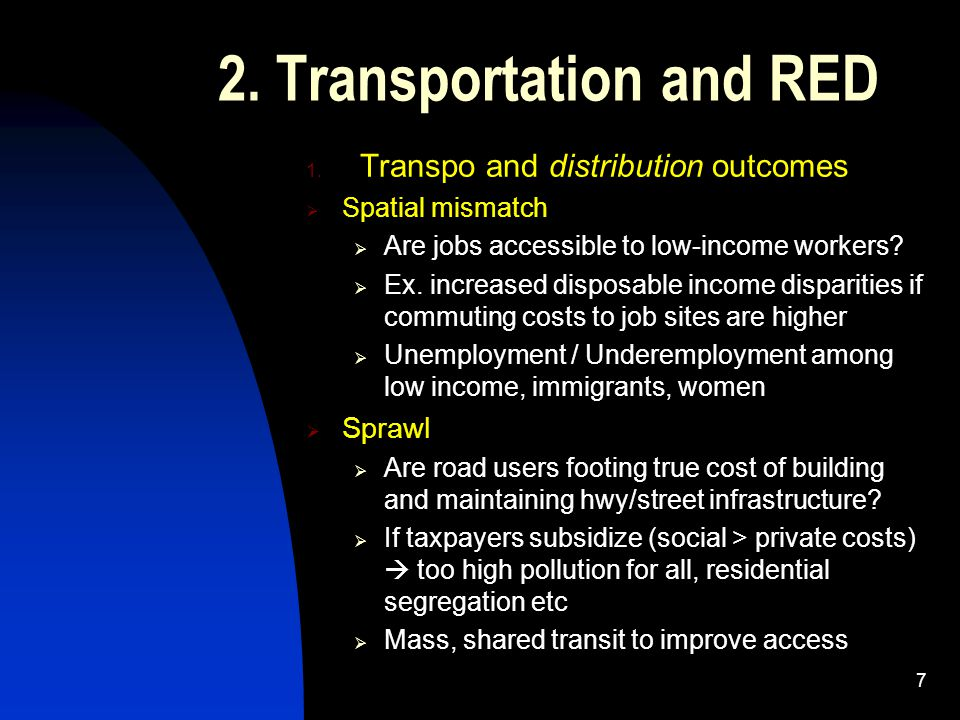 2.Transportation and RED 1.