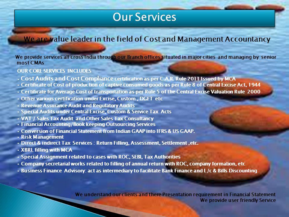 Ashish Dey B.Com(H), ACMA,CMA(USA),DIFRS CEO & Partner HO : J-85, Sriniwaspuri, New Delhi-110065, India : info@costauditors.co.in / ashish@costauditors.co.in : +91-8010739043/9910239043,+91-11-26843258 Any Query Give us Chance to Serve You You