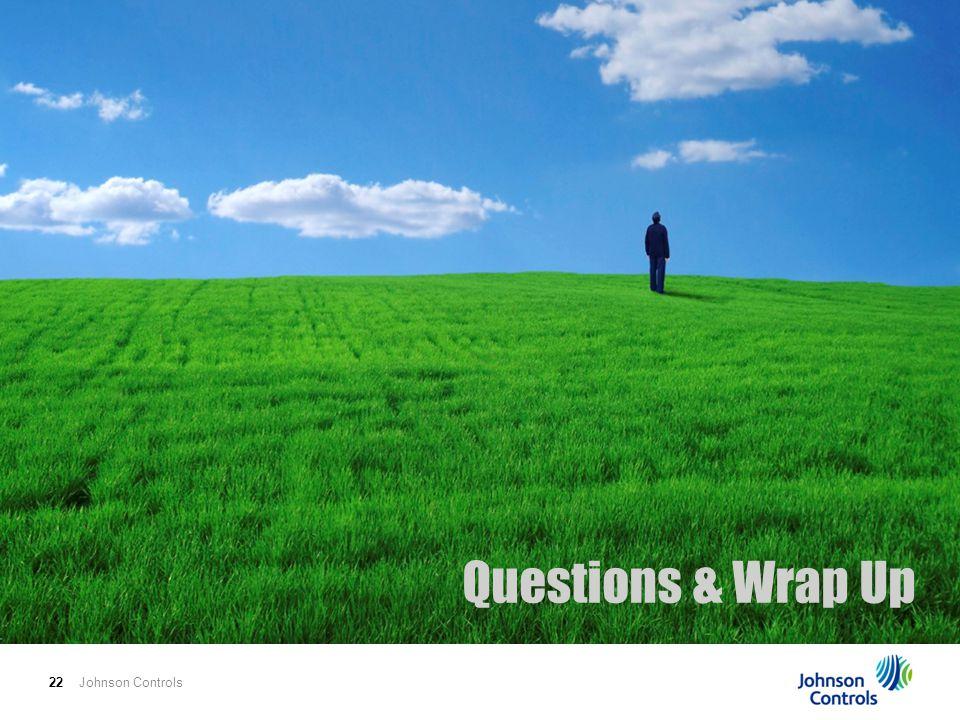 Johnson Controls22 Questions & Wrap Up