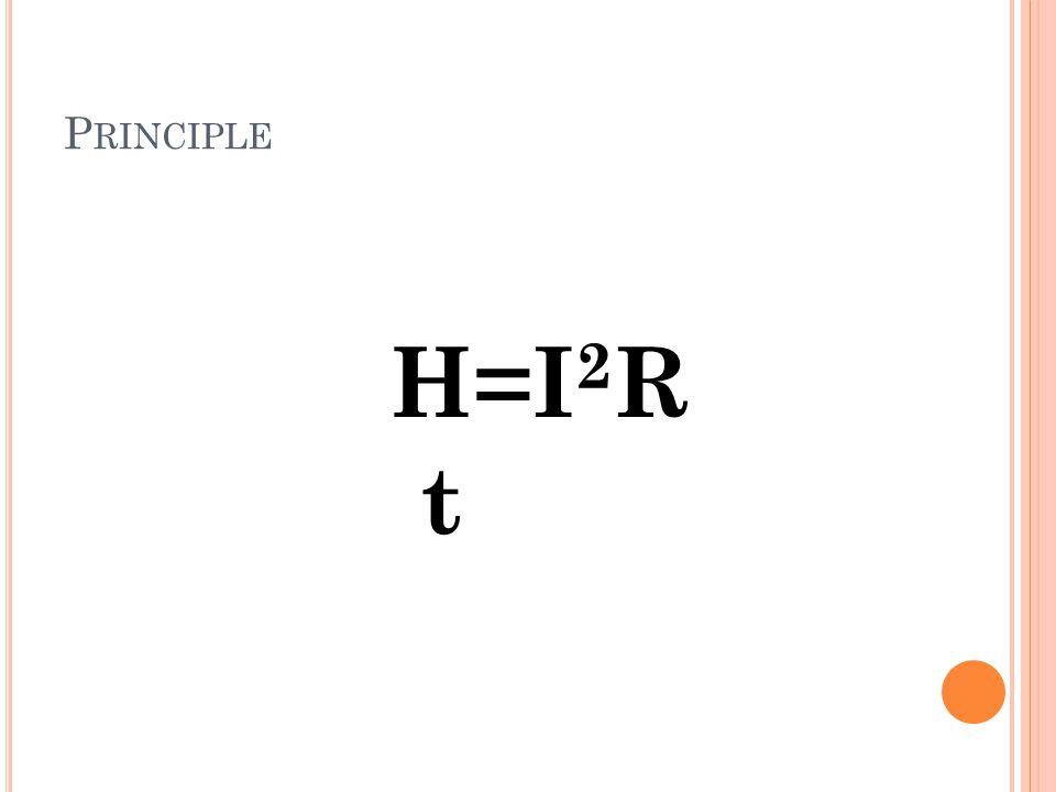 P RINCIPLE H=I 2 R t