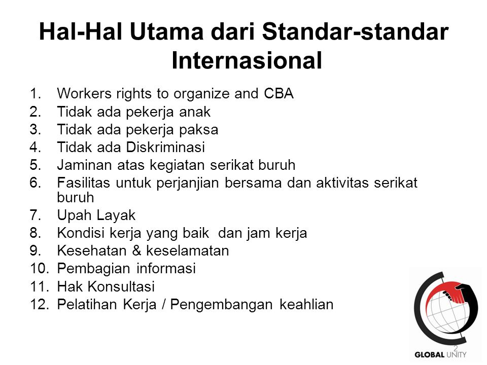 1.General Principles 1.Union is the sole bargaining unit for the company.