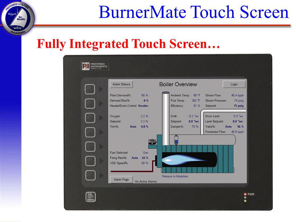 BurnerMate Touch Screen Fully Integrated Touch Screen…