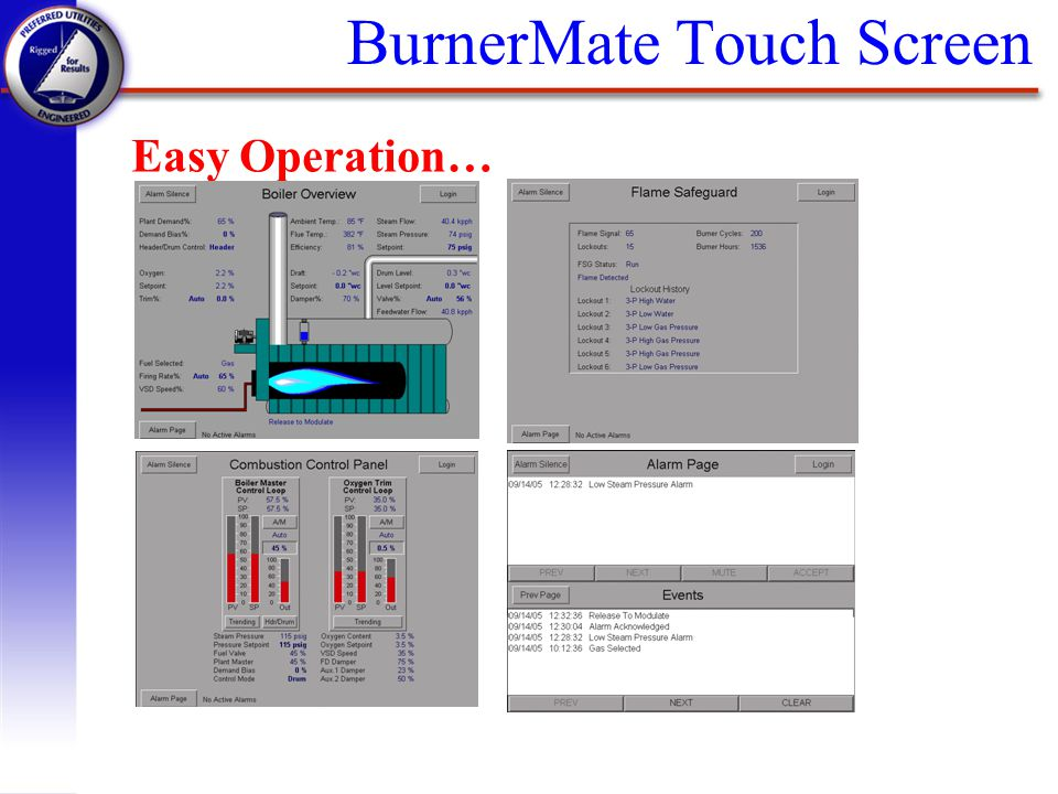 BurnerMate Touch Screen Easy Operation…