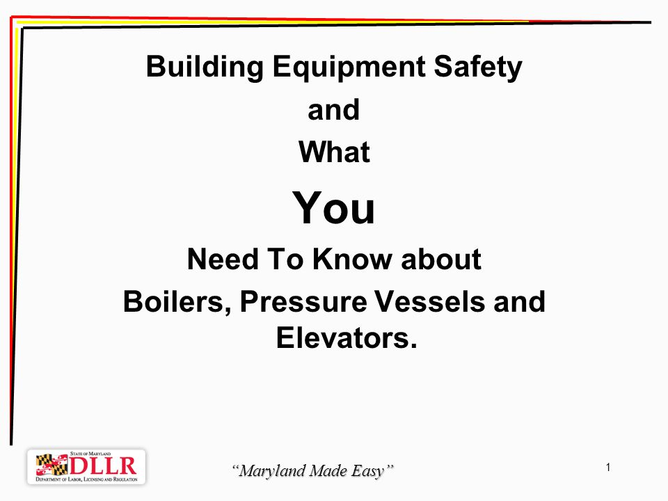 Maryland Made Easy 12 When: 1) installed in a privately owned single-family residential dwelling; or 2) installed in a building or structure under federal control or regulation.