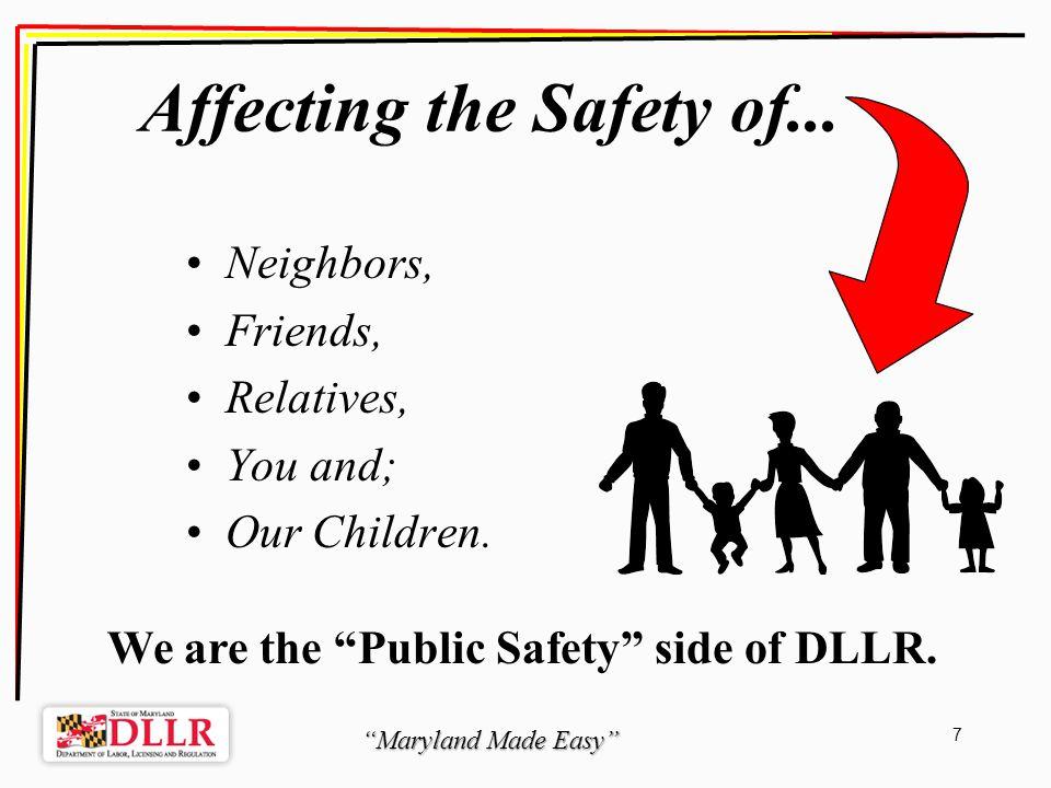 Maryland Made Easy 8 The Elevator Safety Inspection Unit Larry Kreseski Chief Elevator Inspector