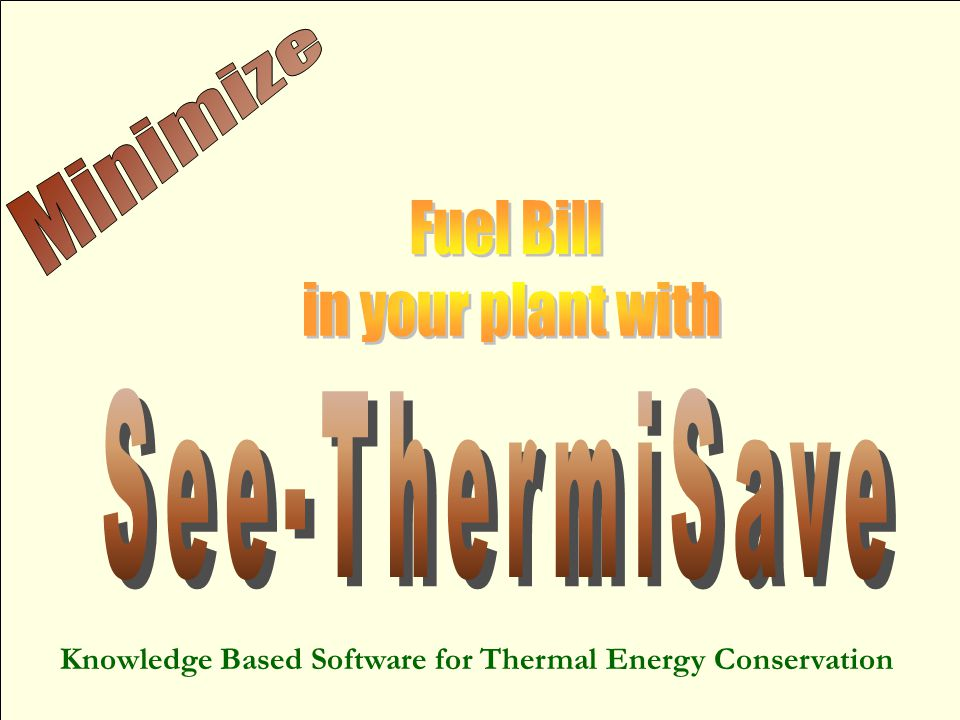 Knowledge Based Software for Thermal Energy Conservation
