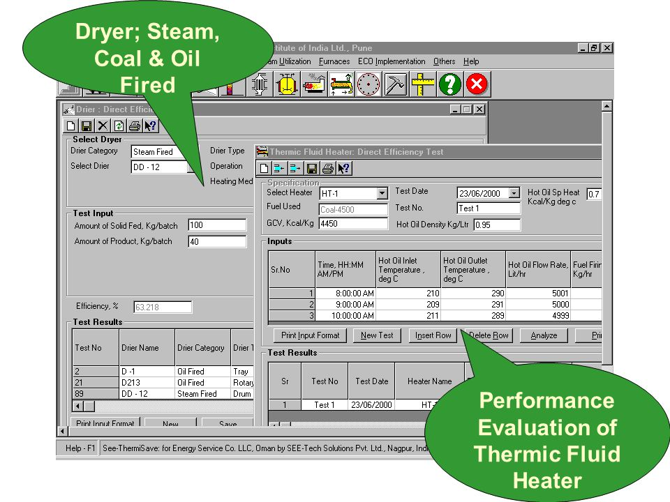 Performance Evaluation of Thermic Fluid Heater Dryer; Steam, Coal & Oil Fired