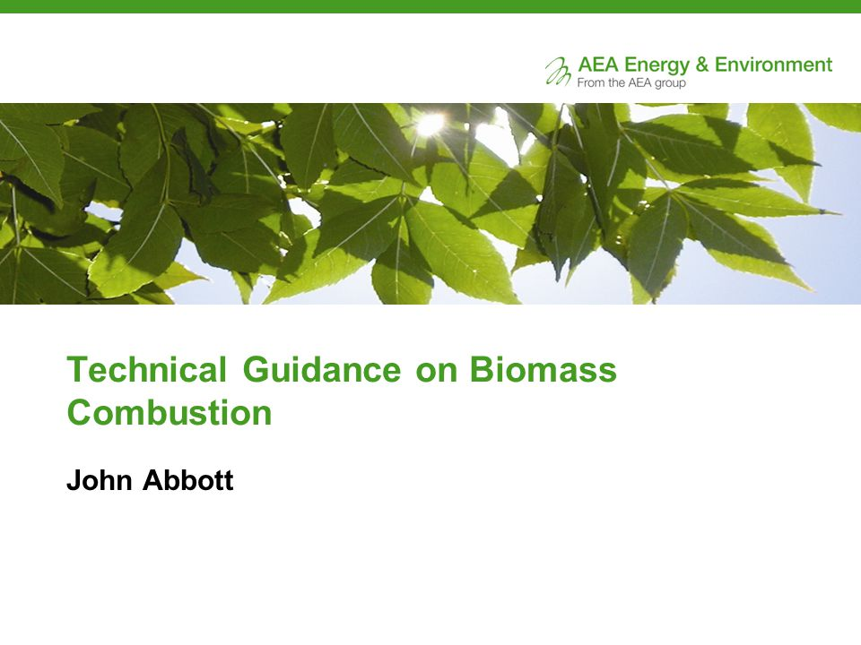 Conclusion Dispersion modelling has been used to develop some simple screening tools for local authorities to assess the impact on air quality of individual biomass combustion installations and the combined effect of many installations.
