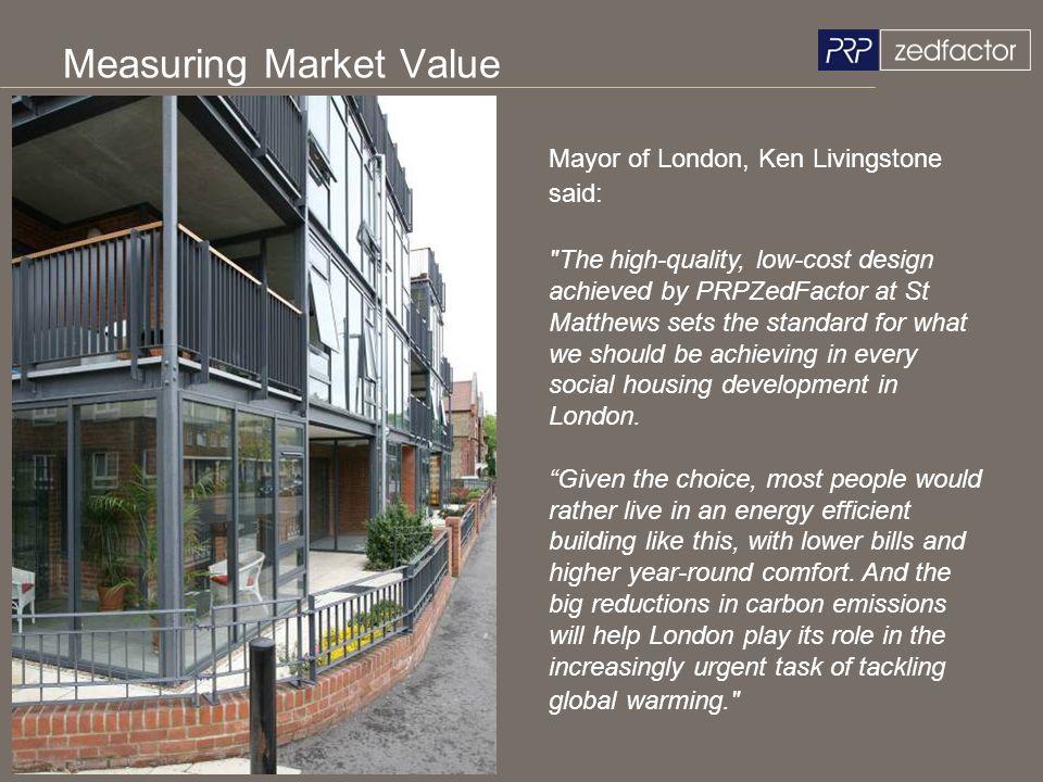 Measuring Market Value Mayor of London, Ken Livingstone said: