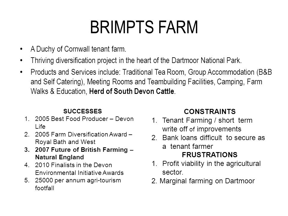 BRIMPTS FARM A Duchy of Cornwall tenant farm.