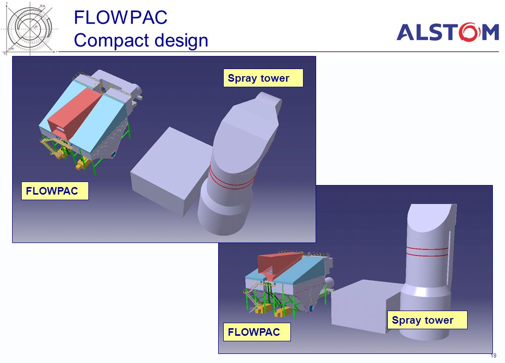 19 FLOWPAC Compact design Spray tower FLOWPAC Spray tower FLOWPAC