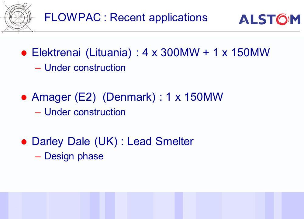 21 FLOWPAC : Recent applications Elektrenai (Lituania) : 4 x 300MW + 1 x 150MW –Under construction Amager (E2) (Denmark) : 1 x 150MW –Under constructi
