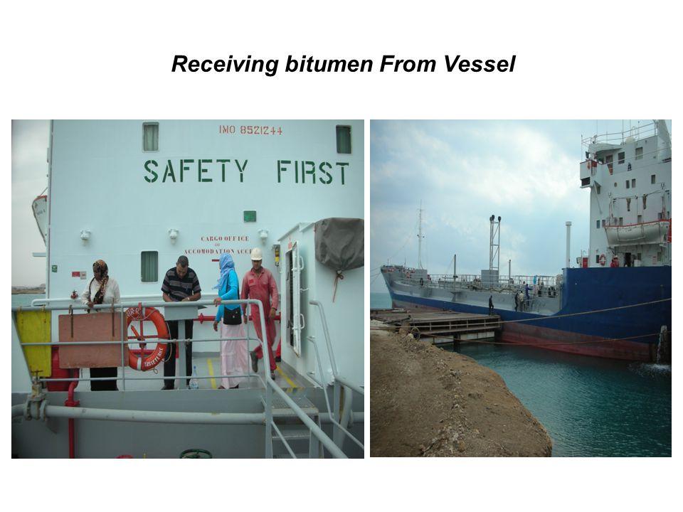 Receiving bitumen From Vessel