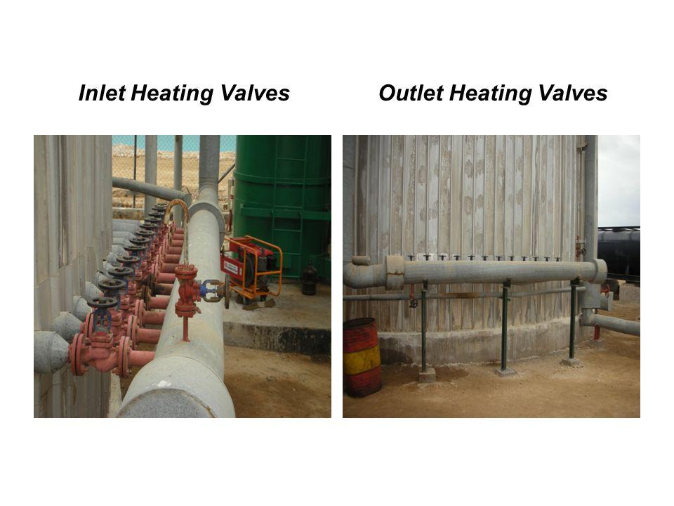 Inlet Heating ValvesOutlet Heating Valves