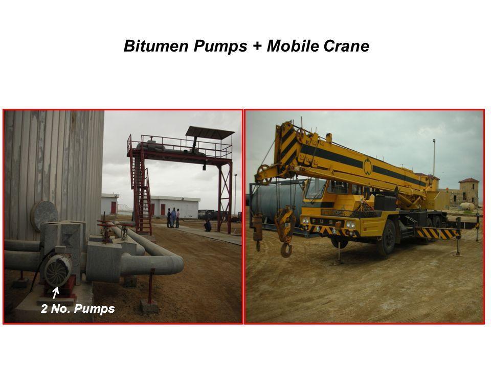 Bitumen Pumps + Mobile Crane 2 No. Pumps