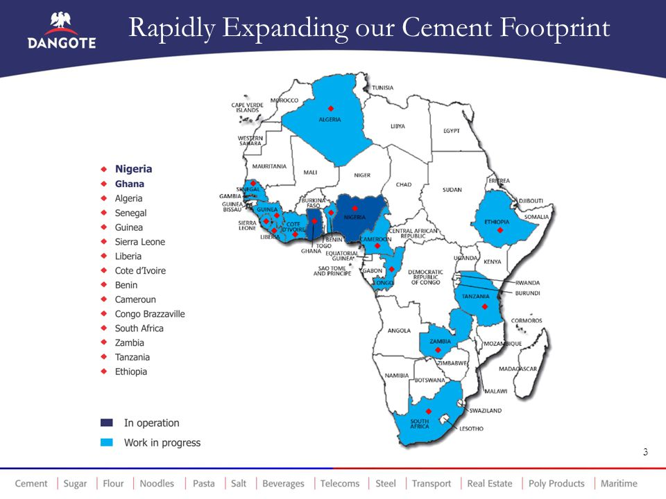 Rapidly Expanding our Cement Footprint 3