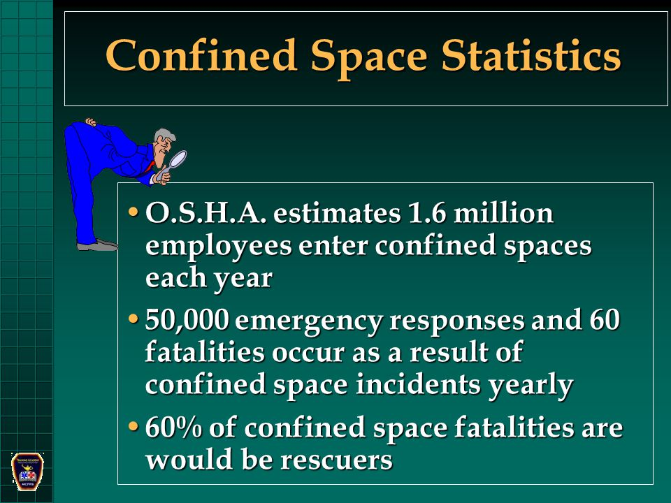 Confined Space Statistics O.S.H.A.