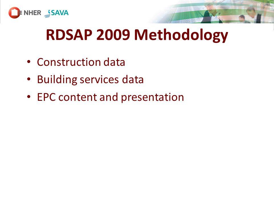Construction data Building services data EPC content and presentation
