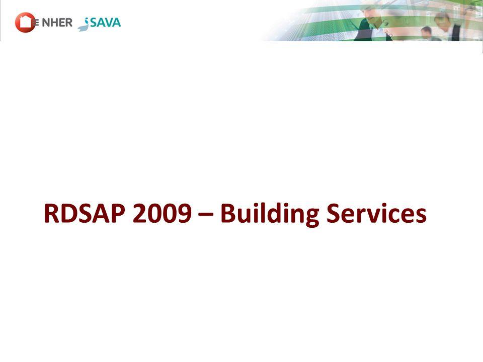 RDSAP 2009 – Building Services
